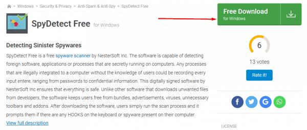 تحميل برنامج spy detect free