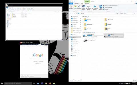 طريقة تقسيم الشاشة للحاسوب