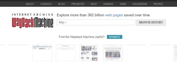 محرك The Wayback Machine