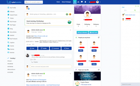 منصة تواصل اجتماعي لتحقيق الربح
