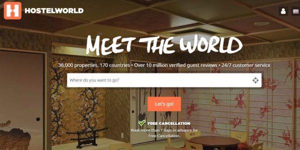 موقع Hostelworld