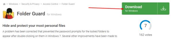 الموقع الرسمي لبرنامج Folder Guard