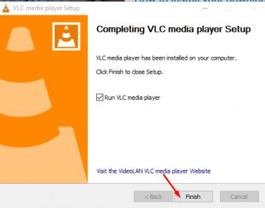 تثبيت برنامج VLC
