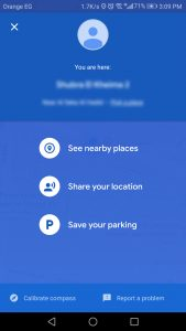 تحديد مكان السيارة من تطبيق خرائط جوجل