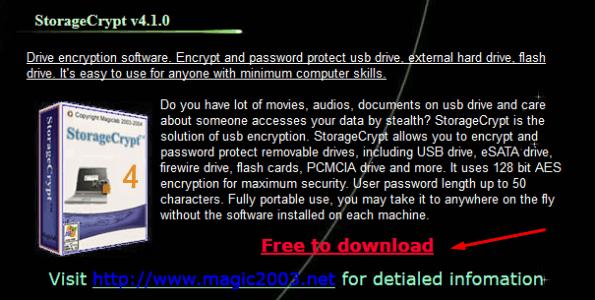 تحميل برنامج StorageCrypt