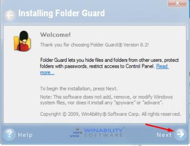 شرح برنامج Folder Guard