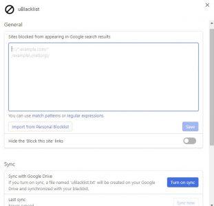 طريقة حظر المواقع من محرك البحث