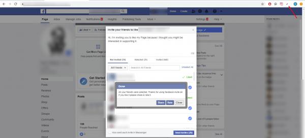 كيفية ارسال دعوات لكافة أصدقاء فيس بوك