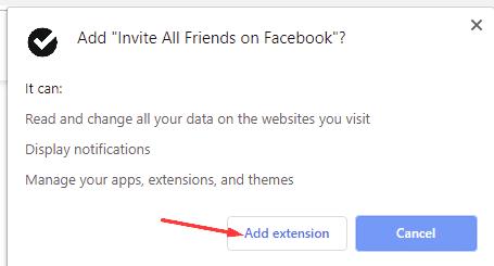 كيفية تثبيت إضافة Invite All Friends on Facebook