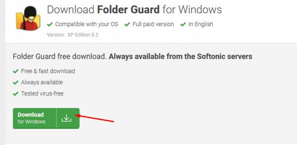 موقع Folder Guard