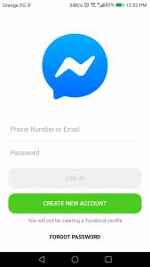استخدام ماسنجر بدون فيس بوك