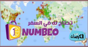 شرح موقع NUMBEO