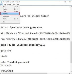 طريقة قفل الملفات بدون برامج