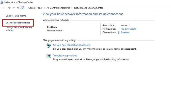 كيفية تغيير عنوان ال IP في Windows10