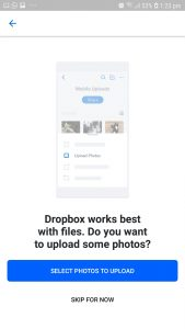 استخدام dropbox