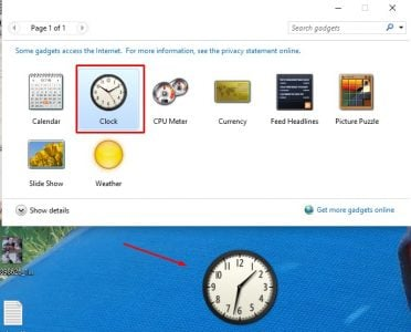 تحميل برنامج the Desktop gadgets installer