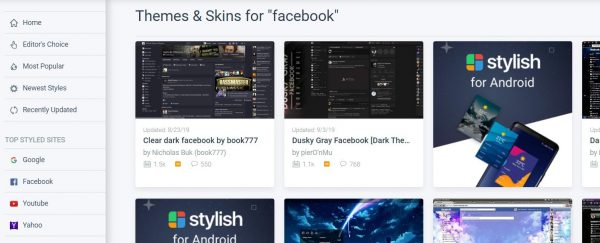 تحويل شكل فيس بوك بكل سهولة