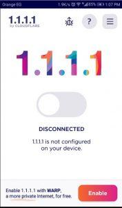 تطبيق 1.1.1.1 لهواتف الايفون