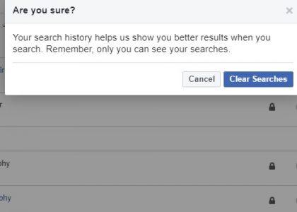 حذف شامل لجميع سجلات البحث