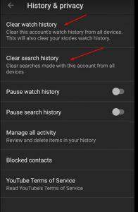 خطوات التخلص من سجل بحث يوتيوب على الهاتف الذكي
