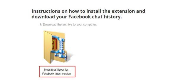 كيفية تحميل رسائل ومحادثات الماسنجر من الفيسبوك
