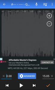 برنامج تقطيع الاغانى mp3 cutter للكمبيوتر