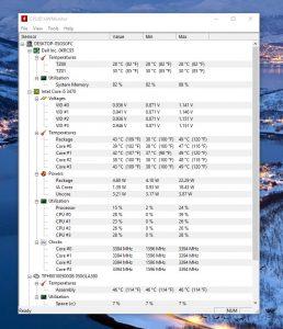 برنامج درجات الحرارة للكمبيوتر