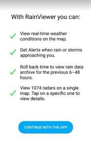 برنامج رادار الامطار للايفون