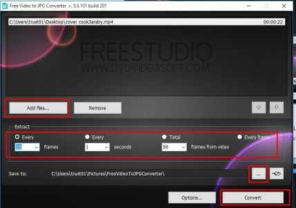 برنامج Free Video to JPG Converter
