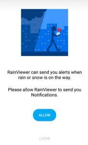 تطبيق رادار الامطار مباشر