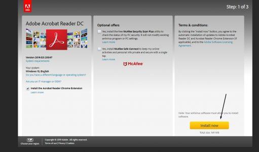 خطوات تحميل برنامج PDF 2020 عربي كامل للكمبيوتر من الموقع الرسمي مجاناً