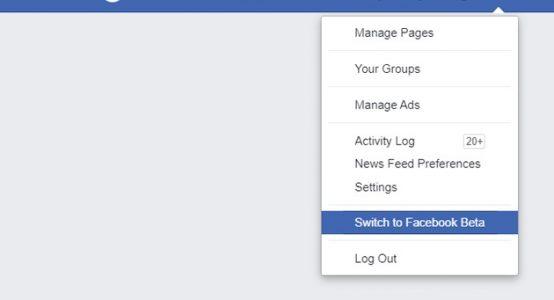 فيس بوك بشكل جديد