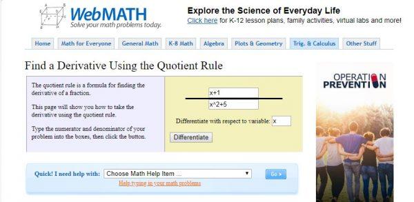 موقع لحل المعادلات الجبرية
