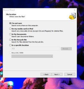 برنامج استرجاع الملفات المحذوفة من الكمبيوتر ويندوز 10