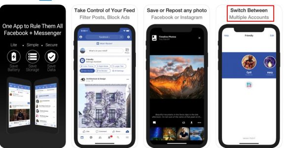 فتح اكثر من حساب فيس بوك على الايفون