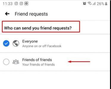 إخفاء زر طلب الصداقة