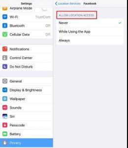 منع التطبيقات من التجسس عليك