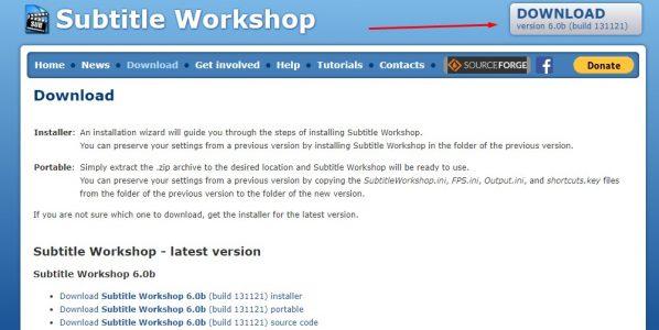 تحميل وتثبيت برنامج Subtitle Workshop