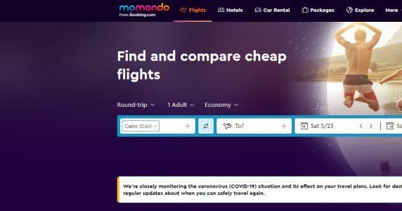 حجز طيران على موقع موموندو