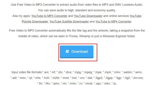 تحميل برنامج Free Video to MP3 Converter