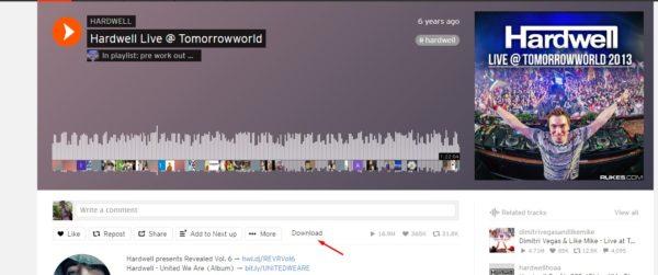 كيفية تحميل مقطع صوتي من ساوند كلاود