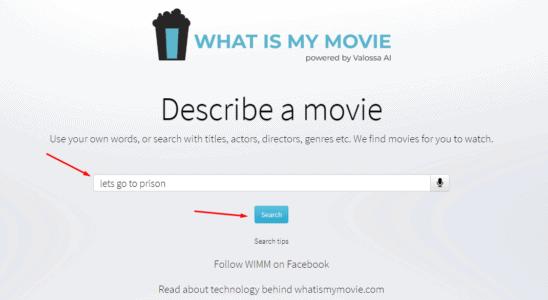 كيف ابحث عن فيلم لا اعرف اسمه