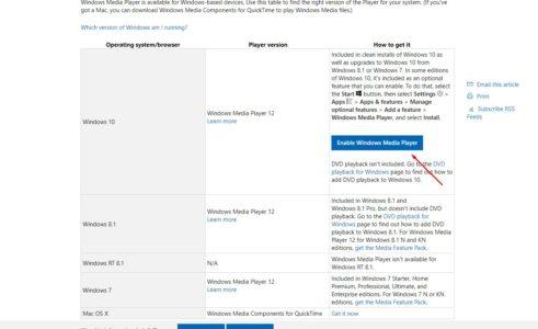 معلومات حول برنامج Windows Media Player