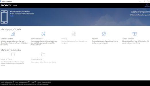 برنامج تحديث سوني Xperia