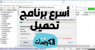 برنامج Internet Download Accelerator