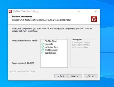 شرح برنامج FileZilla