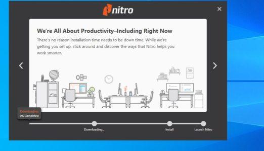 شرح كيفية تثبيت واستخدام برنامج Nitro's PDF