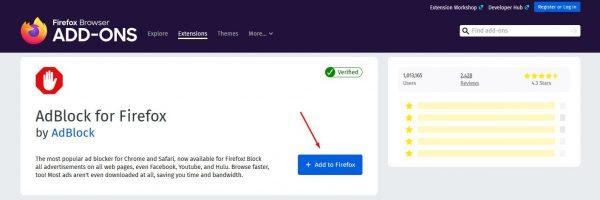 تحميل إضافة AdBlock على متصفح فايرفوكس