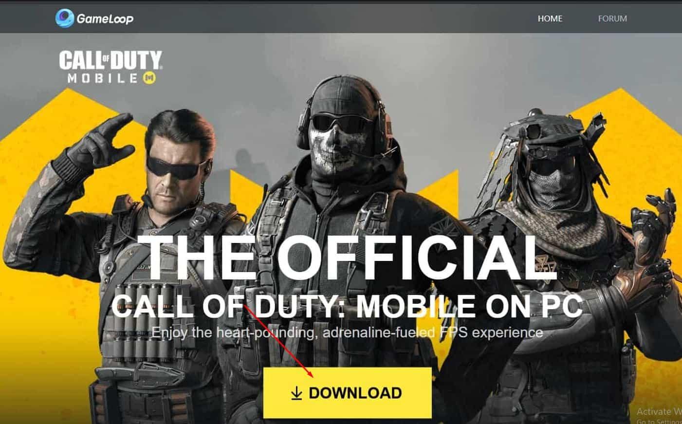 تحميل لعبة call of duty mobile محاكي