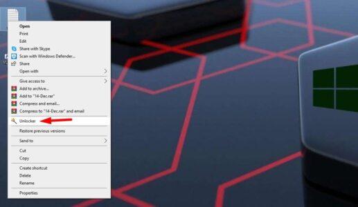 تحميل برنامج حذف الملفات المستعصية unlocker